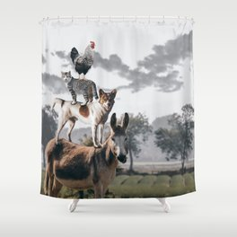 "The ""Town Musicians of Bremen"" Shower Curtain"