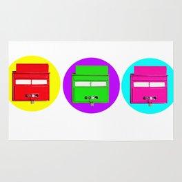 old school pop art mailboxes Rug