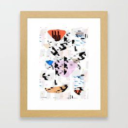 Between the coast and the ocean Framed Art Print