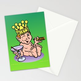 Mirthful Relaxing With Cigar & Martini Stationery Cards