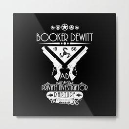 Booker DeWitt Investigator v2 Metal Print