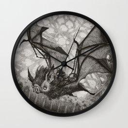 The Bat Rider  Wall Clock