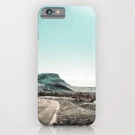 Desert Sunlight Snowfield // Vintage Nature Winter Scenery in Mojave Las Vegas Landscape Photograph iPhone Case