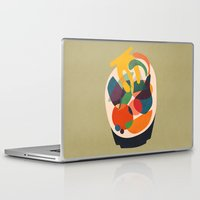 wooden Laptop & iPad Skins featuring Fruits in wooden bowl by Picomodi