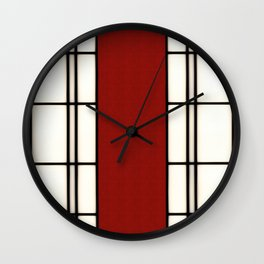 Shoji - red Wall Clock