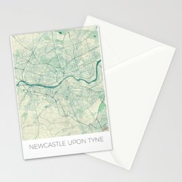 Newcastle upon Tyne Blue Vintage Stationery Cards