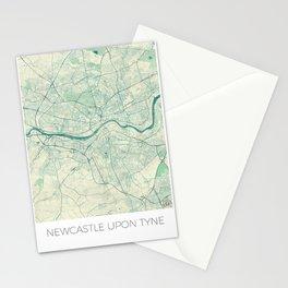 Newcastle upon Tyne Blue Vintage Stationery Cards