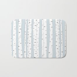 Aspen Forest - Blue Grey Bath Mat