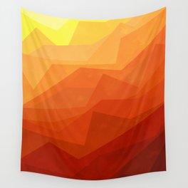 Stratum 3 Orange Wall Tapestry