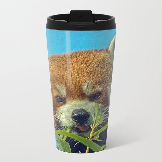 RED PANDA LOVE Metal Travel Mug