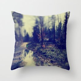 In the forrest Throw Pillow