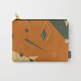 Geometrical style print illustration Carry-All Pouch