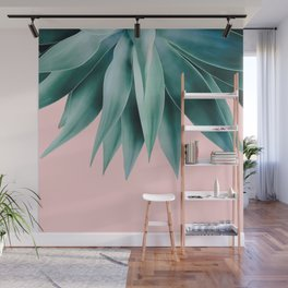Agave fringe - blush Wall Mural