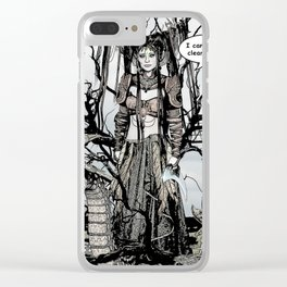 Dragon Queen Comic Illustration 1 Clear iPhone Case