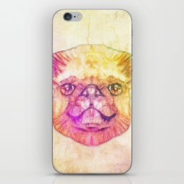 abstract pug puppy  iPhone Skin