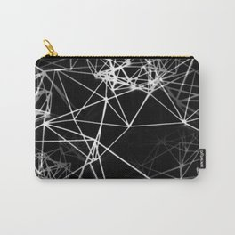 Geometric himmeli ornaments as minimal negative pattern Carry-All Pouch