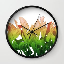 Leaves of Summer Wall Clock