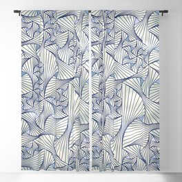 Reverie (in Ivory and Blue) Blackout Curtain