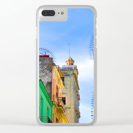 Streetview - Street and houses in Havana Clear iPhone Case