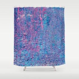 Blue grunge texture background Shower Curtain