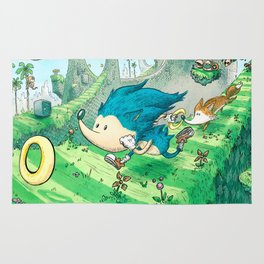 Starring Sonic and Miles 'Tails' Prower (Blue Version) Rug