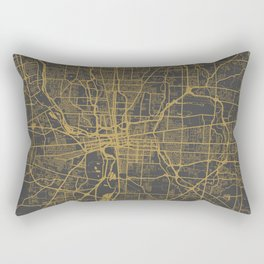 Columbus map Rectangular Pillow