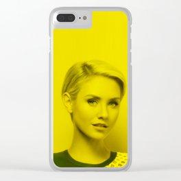 Nikki Whelan - Celebrity (Florescent Color Technique) Clear iPhone Case