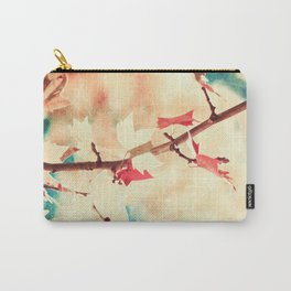 Autumn (Leafs in a textured and abstract sky) Carry-All Pouch