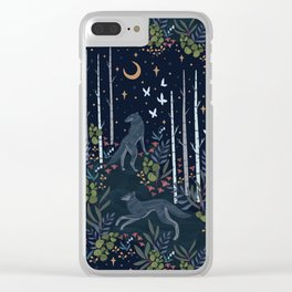 Midnight Exploration Clear iPhone Case