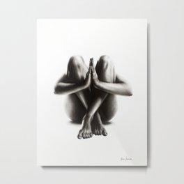 Nude Woman Charcoal Study 48 Metal Print