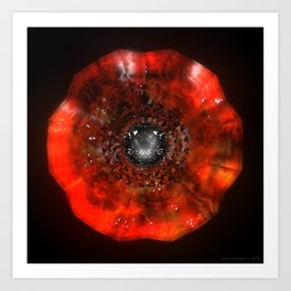 The Eye Of Cyma: Fire And Ice - Frame 40 Art Print