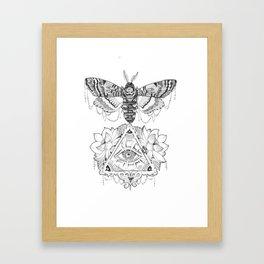 All Seeing Death's Head Framed Art Print