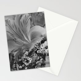 Freesia 2 B&W Stationery Cards