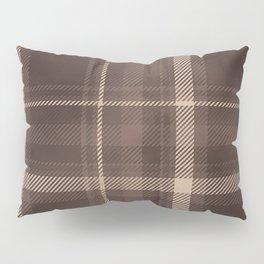 Rustic Brown Plaid  Pillow Sham