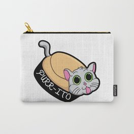 Purr-ito Kitty Burrito Carry-All Pouch