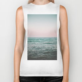 blush ocean Biker Tank