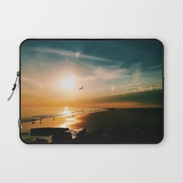 Winter Ocean Sunset Laptop Sleeve