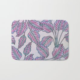 Colorful Caladiums Bath Mat