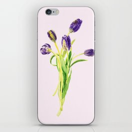 purple tulip iPhone Skin