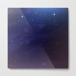 BLUE PINK GALAXY Metal Print