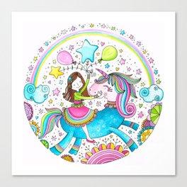 Unicorn Girl Canvas Print