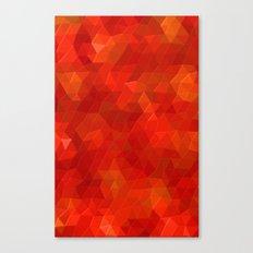 Orange Flames Canvas Print