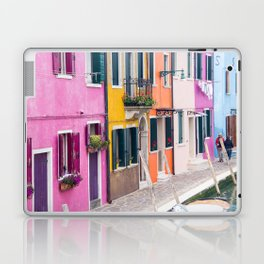 Hot Pink Houses in Burano, Italy Laptop & iPad Skin