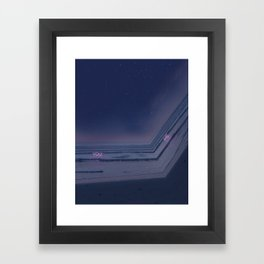 Drifting in and out. Framed Art Print