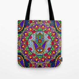 Hamsa Harmony Mandala Tote Bag