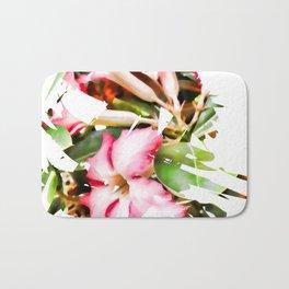 Adenium Flower Splash Bath Mat