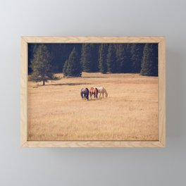 Montana Collection - Horses on the Ranch Framed Mini Art Print