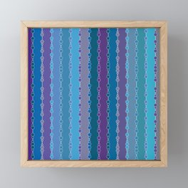 Multi-faceted decorative lines 4 Framed Mini Art Print