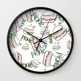 pickled sandwiched  Wall Clock