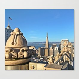 Room with a view, Mark Hopkins San Francisco, CA with the TransAmerica Tower Canvas Print